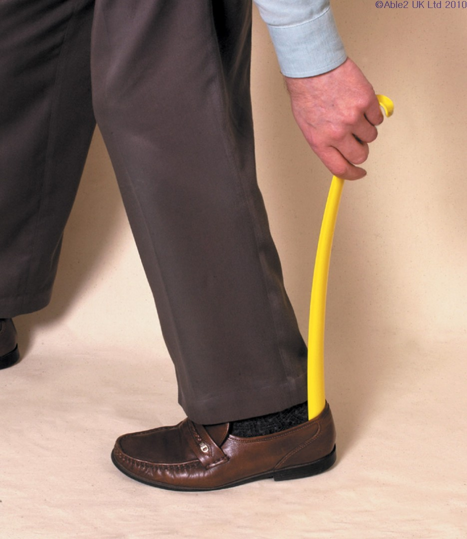 Long Shoehorn with Hooked Handle