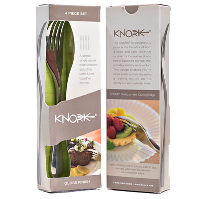 Knork Knife & Fork Combo - 4 Pack